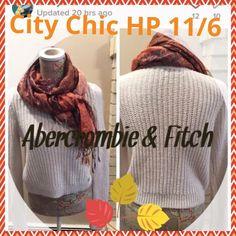 🎉City Chic HP 🎉🎉Abercrombie Fitch Cream Sweater 🎉City Chic HP🎉11/6/15🎉By callyemeow  Abercrombie & Fitch winter white sweater.  Size large.  Worn once.  Excellent condition. Abercrombie & Fitch Sweaters Crew & Scoop Necks