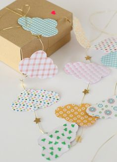 DIY paper Cloud Garland