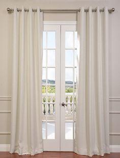 Cottage White Bellino Grommet Blackout Curtain - SKU: BOCH-PL4201-GR at https://halfpricedrapes.com