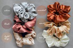 MANY COLORS Silk scrunchy silk satin scrunchie silk tie silk care Real silk satin elastic natural silk satin schuchies Diy Hair Scrunchies, Diy Hair Accessories, Ribbon Bows, Diy Hairstyles, Silk Ties, Silk Satin, Hair Ties, Diy And Crafts, Etsy