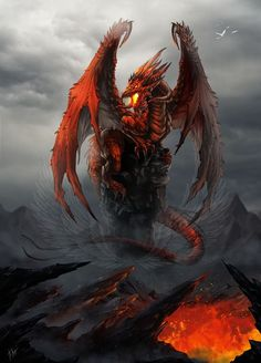 Fire Dragon Artwork by Tira-Owl on DeviantArt.