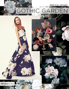 TRENDS // PATTERN PEOPLE - PRINT INSPIRATION/GOTHIC GARDEN - A/W 2016