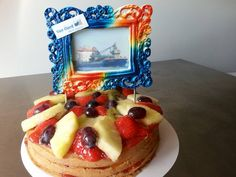 #Vetvrij #weinig suiker #Fruit  Fallpipe vessel Stornes #vanoord on a fatfree lowsugar cake
