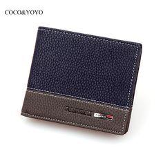$5.00 (Buy here: https://alitems.com/g/1e8d114494ebda23ff8b16525dc3e8/?i=5&ulp=https%3A%2F%2Fwww.aliexpress.com%2Fitem%2FHot-2015-New-Designer-brand-business-black-leather-Men-wallets-short-purse-card-holder-fashion-carteira%2F32277654990.html ) Hot 2016 New Designer Brand Business Black Leather Men Wallets Short Purse Card Holder Fashion carteira masculina couro QB1268 for just $5.00