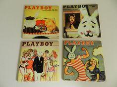 Playboy Coasters Vintage Playboy Magazine by DesignsofFaithandJoy