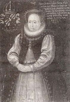 Anne of the Veldenz Palatinate c 1585 by unknown.