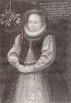 Portrait de Anna Gustavsdotter Vasa, princesse de Suède et du Veldenz Palatinat, vers 1585 artiste inconnu