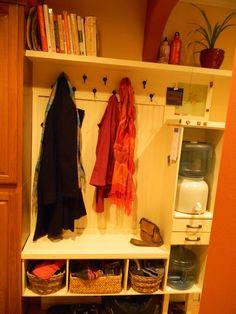 diy coat rack shelf - Google Search