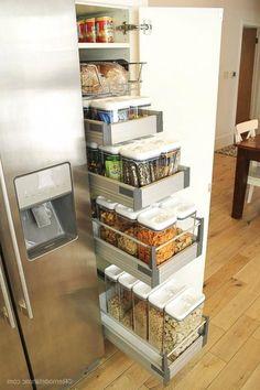 Brilliant Diy Kitchen Storage Organization Ideas – Famous Last Words Kitchen Organization Pantry, Kitchen Pantry Cabinets, Diy Kitchen Storage, Organized Pantry, Diy Cupboards, Storage Cabinets, Ikea Pantry, Storage Canisters, Kitchen Drawers