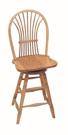 Amish Windsor Wheat Back Swivel Barstool - Keystone Collection