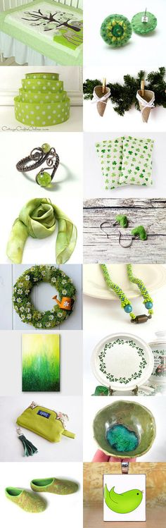 Christmas in green by Diána Komjáti on Etsy--Pinned with TreasuryPin.com