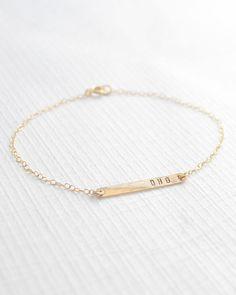 Initial Bracelet custom bracelet with initials by OliveYewJewels