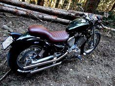 Shared by Yamaha Virago XV 535 Virago Bobber, Virago 535, Scrambler Motorcycle, Bobber Chopper, Motorcycle Art, Custom Motorcycles, Cars And Motorcycles, Yamaha 125, Brat Cafe