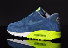 Nike Air Max 90 Premium | Night Factor, Grey & Volt