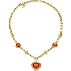 Margot Mckinney Jewelry Hearts Desire Citrine & Sapphire Necklace with... (885.299.265 VND) ❤ liked on Polyvore featuring jewelry, necklaces, gold heart charm, heart necklace, heart shaped diamond necklace, gold charm necklace and heart pendant necklace