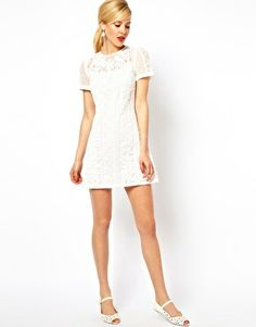 Image 4 of ASOS PETITE Exclusive Embroidered Beaded Mini Shift Dress