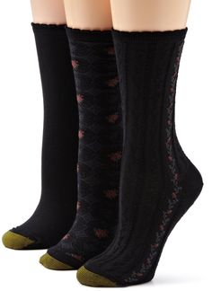 Gold Toe Women's Floral Fashion 3 Pack Socks, Black, 9-11 *** ADDITIONAL INFO @ http://www.getit4me.org/fashion100/1708/?811