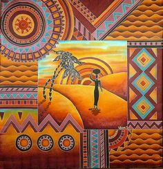 """Купить Платок-батик """"Жаркая Африка"""" - платок батик, платок шелковый, Батик, холодный батик"""