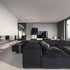 q-house interior design on Behance