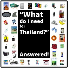 Thailand checklist (What do you need for Thailand?) //  #travel #packing #list