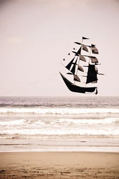 Sailboat kite, so cool!