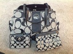 Authentic coach purse, wallet, and wristlet