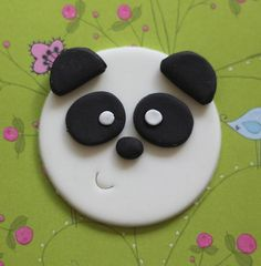 Adorable Panda Bear Fondant Toppers - Perfect for Cupcakes, Brownies and Other Creations Panda Birthday, 2 Birthday Cake, Mini Cakes, Cupcake Cakes, Panda Cupcakes, Cupcake Videos, Fondant Toppers, Bear Cakes, Savoury Cake