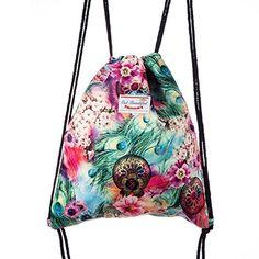 Lady Donovan #Turnbeutel #Beutel #Tasche #Sportbeutel #Jute-Sack Festival Rucksack für Mädchen und Damen - #Jutebeutel Hipster bedruckt
