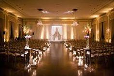 evening hotel wedding ceremony