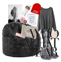 """Cocooning on Netflix"" by sanglierspore on Polyvore featuring mode, Disney, Jonathan Adler, Comfort Research, River Island, Pier 1 Imports, Iscream, comfy, netflix et fauxfur"