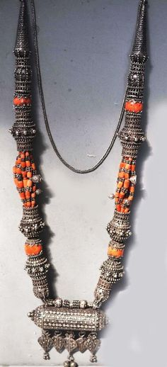 A great necklace, made of silver and coral, from Yemen. Formerly owned by Linda Pastorino. ( Joost Daalder