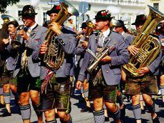 oktoberfest munich germany   ... Band in Traditional Costume During Oktoberfest, Munich, Germany