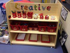 Art Center Preschool, Preschool Rooms, Writing Corner, Writing Area, Eyfs Classroom, Infant Classroom, Classroom Setting, Classroom Design, Creative Area Eyfs