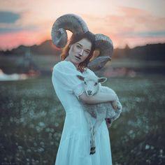 Lamb by anyaanti on DeviantArt Portraits, Female Portrait, I Fall In Love, Lamb, Garden Sculpture, Images, Photos, Cosplay, Deviantart