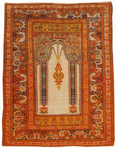 Antique Turkish Prayer Rug 4.1 X 5.4 - Fred Moheban Gallery