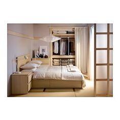 MALM Sängstomme, hög, med 4 sänglådor, vitlaserad ekfaner - - - 160x200 cm - IKEA