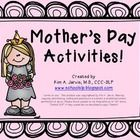 Included are two activities for Mother's Day! ~Adjective Flower ~Mom Coupons...