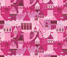 castles fabric by stacyiesthsu on Spoonflower - custom fabric