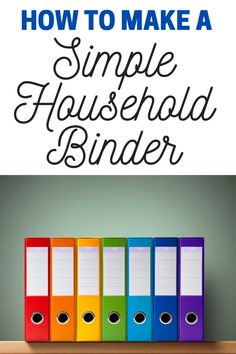 Are you looking for a good way to organize and store all of the information you need to run your home? If you are, a simple household binder might be a good solution for you. #organizingmoms Make Your Own, Make It Yourself, How To Make, Organizing Your Home, Organizing Ideas, Household Binder, Organized Mom, Time Management Tips, Minimalist Home