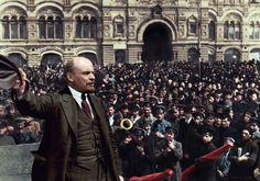 """Ekim Devrimi'nin lideri ve Sovyetler Birliği'nin kurucusu Vladimir İlyiç Ulyanov """"Lenin"""" - Kızıl Meydan, Moskova, 2 Ocak 1922."""