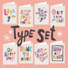 The Type Set - 8pk (ma and grandy)