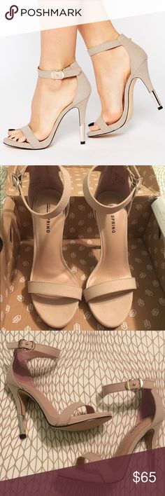 "HPBRAND NEW BEIGE SUEDE HEELS Host pick for Summer Style on 7-30-16!!!  Call It Spring ""barely there"" nude/beige heels with metal heel.  I never even wore these so they are in brand new perfect condition which is why they are priced high.   • Call It Spring nude beige tan silver high heels new • Call It Spring Shoes Heels"