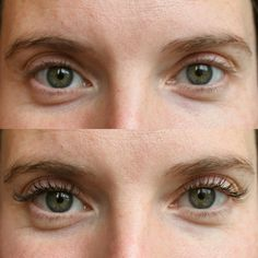 Before & After. Natural lashes to a natural Full Set of Extensions