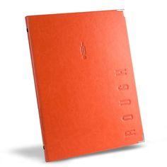 Faux Leather Menu Cover in orange by Menu Shop