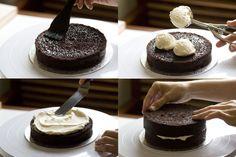Tarta de chocolate y buttercream de vainilla 'Monster High'