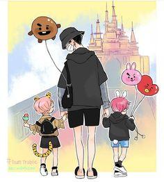 elder brother Yoongi and taekook UWUWU Fanart Bts, Vkook Fanart, Yoonmin Fanart, Bts Chibi, Jikook, Bts Manga, Kpop, Anime Lindo, Dibujos Cute