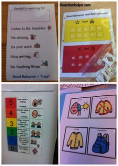 An area that visuals will save your little butt is behavior management. Since visuals are so beneficial and helpful for our students - why not use them for the most challenging things - reducing pr. Classroom Behavior Management, Behaviour Management, Preschool Behavior, Autism Activities, Autism Resources, Educational Activities, Autism Classroom, Special Education Classroom, Is My Child Autistic