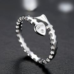 Unique Creative Cute Fishbone Open Ring in 925 Silver  http://www.jewelsin.com/p-unique-cute-fishbone-open-ring-in-925-silver-1225