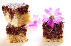 Prajitura de post cu nuca de cocos detaliu Sweets Recipes, Cake Recipes, Vegan Desserts, Vegan Recipes, Romanian Food, Pastry Cake, Coco, Cheesecake, Cakes
