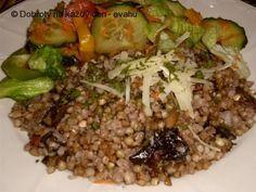 Pohanka s houbami Quinoa, Grains, Stuffed Mushrooms, Rice, Snacks, Meat, Chicken, Recipes, Koken